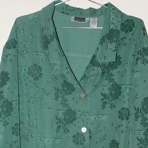 Maggie Barnes Womens Tunic Size 30W Green